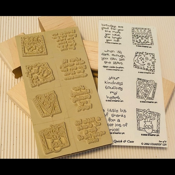 NEW Stampin Up 8pc Variety Sentiments
